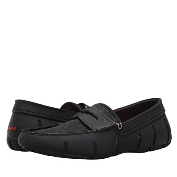 Swims Shoes   Black Penny Loafers Size